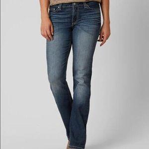 Euc bke Dakota medium dark boot cut jeans 28xl